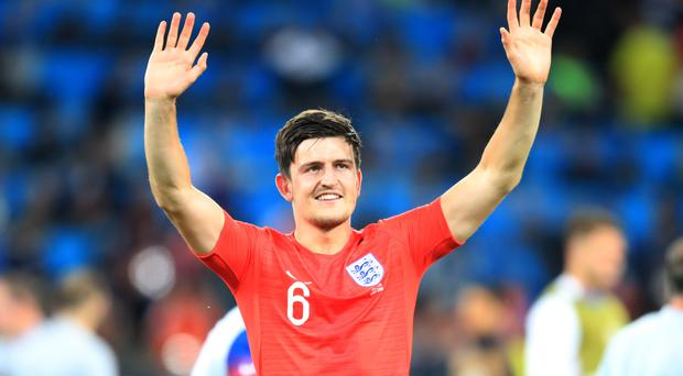 Speculation is rife that Manchester United will make a world-record bid for Leicester's Harry Maguire (Adam Davy/PA)