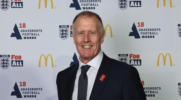 World Cup hero Sir Geoff Hurst can see positives in selling Wembley (McDonald's promotional handout).