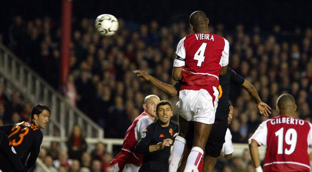Arsenal's Patrick Vieira was a giant for the club (Tom Hevezi/PA)