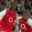 Kanu and Thierry Henry combined well at Arsenal from 1999 to 2005 (Rebecca Naden/PA Images)