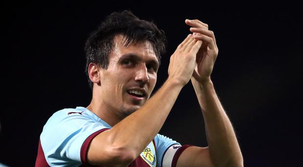 Burnley's Jack Cork celebrates (Nick Potts/PA)
