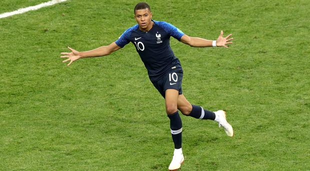 Kylian Mbappe shone at the World Cup (Aaron Chown/PA)
