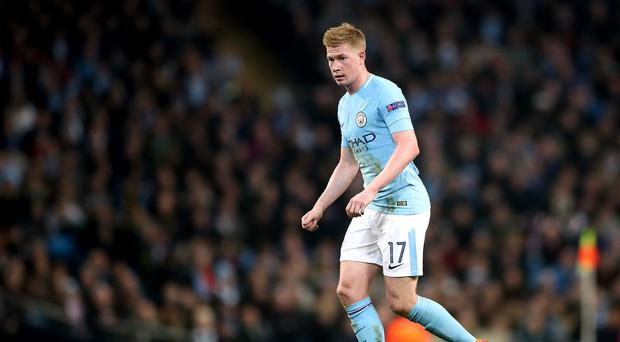 Kevin de Bruyne has been ruled out for up to three months with a knee injury (Nick Potts/PA)