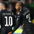 Kylian Mbappe has hailed team-mate Neymar (Andrew Milligan/PA)