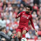 Mohamed Salah is up for the UEFA Player of the Year award (David Davies/PA)
