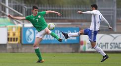 Declan Rice, left, has three caps for the Republic of Ireland (Niall Carson/PA)