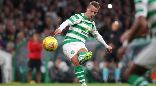 Leigh Griffiths scores his 100th goal for Celtic in Suduva win (Andrew Milligan/PA)