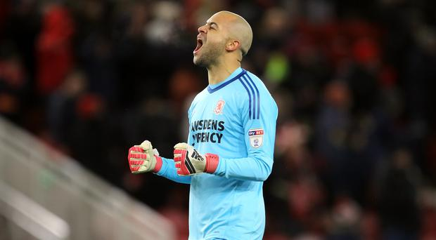 Republic of Ireland and Middlesbrough keeper Darren Randolph has his sights set on a better ending to this season (Richard Sellers/PA)