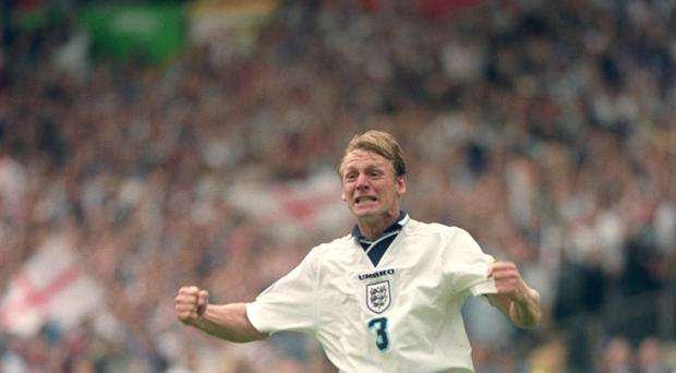 Stuart Pearce, pictured, exorcised his penalty demons when England beat Spain on spot-kicks in Euro '96 (Sean Dempsey/PA)