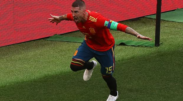 Sergio Ramos is Spain's captain (Aaron Chown/PA)
