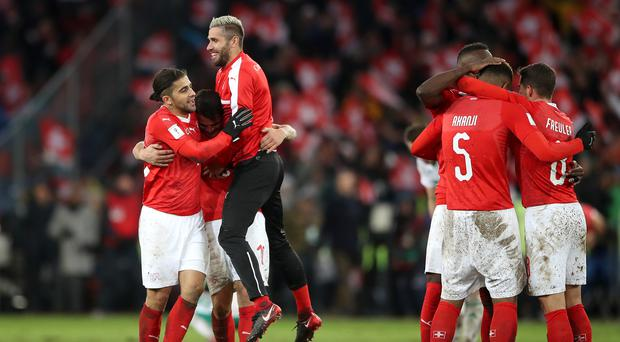 Swtizerland qualified for the World Cup with a play-off win over Northern Ireland (Nick Potts/PA)