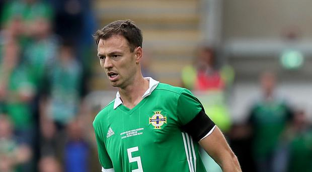 Jonny Evans sees potential in the young Northern Ireland players coming through (Brian Lawless/PA)