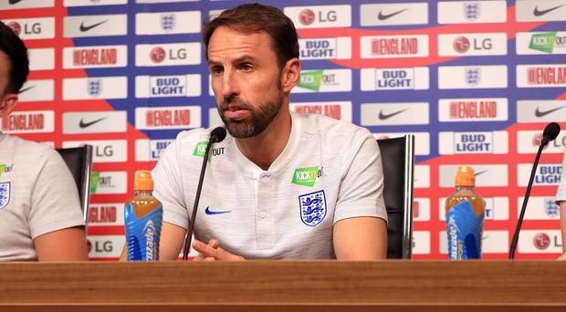 Southgate is looking to avoid a fourth straight defeat (Mike Egerton/PA)