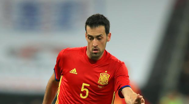 Sergio Busquets is a key cog for Spain (Mike Egerton/PA)