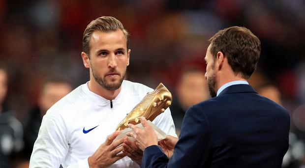 Gareth Southgate, right, plans to give Harry Kane a rest (Mike Egerton/PA)