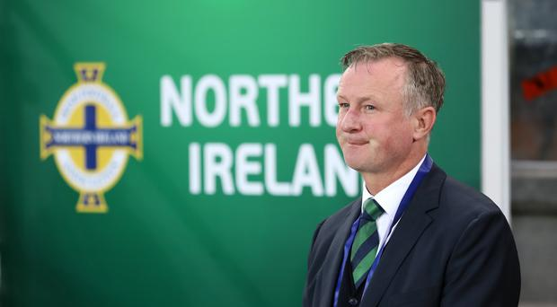 Northern Ireland manager Michael O'Neill saw his side see off Israel 3-0 (Liam McBurney/PA).