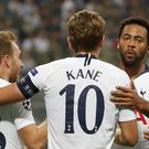 Harry Kane (centre) has been the focus of attention after his goalless run. (AP Photo/Antonio Calanni)