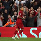 Roberto Firmino was Liverpool's match-winner against Paris St Germain after recovering from an eye injury (Peter Byrne/PA).
