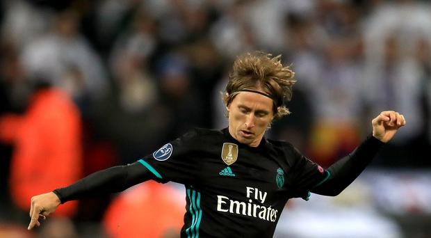Luka Modric has been voted the best male player in the world for 2018 (Mike Egerton/PA)
