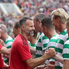 Former Manchester United winger Ryan Giggs (centre) took part in a tribute match for Liam Miller (Niall Carson/PA Wire)