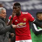 Manchester United manager Jose Mourinho (left) and Paul Pogba have seen their relationship tested this season (John Walton/PA Images)