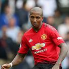 Ashley Young captained Manchester United in their penalty shootout defeat to Derby (Gareth Fuller/PA).