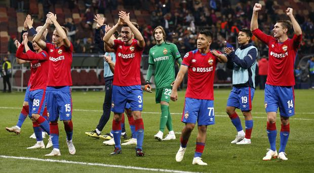 CSKA Moscow grabbed a famous win over Real Madrid (Alexander Zemlianichenko/AP)