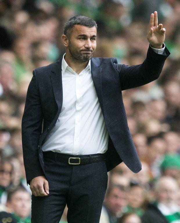 Qarabag manager Gurban Gurbanov will lead his side into battle with Linfield tomorrow night. PIC: Jeff Holmes/PA