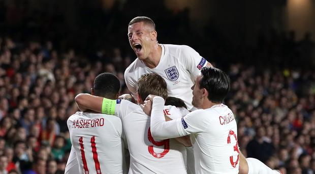 England upset Spain in Seville on Monday night (Nick Potts/PA)