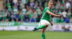 Northern Ireland's George Saville during the UEFA Nations League, League B Group Three match at Windsor Park, Belfast. PRESS ASSOCIATION Photo. Picture date: Saturday September 8, 2018. See PA story SOCCER N Ireland. Photo credit should read: Brian Lawless/PA Wire.