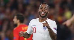 England's Raheem Sterling is attracting interest from overseas, reports say