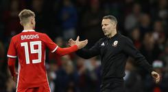 Wales manager Ryan Giggs has plenty of emerging young talent, like Bournemouth's David Brooks, at his disposal (Nick Potts/PA)