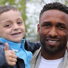 Jermain Defoe and Bradley Lowery built up a strong friendship (Owen Humphreys/PA)