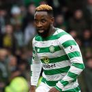 Former Celtic striker Moussa Dembele claimed Lyon's opener (Ian Rutherford/PA)