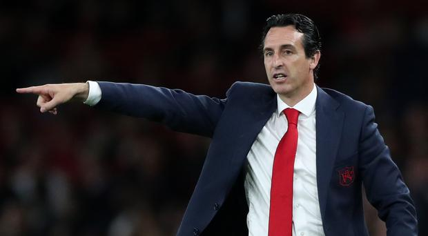 Arsenal manager Unai Emery doesn't want Arsenal fans to get ahead of themselves (Nick Potts/PA)