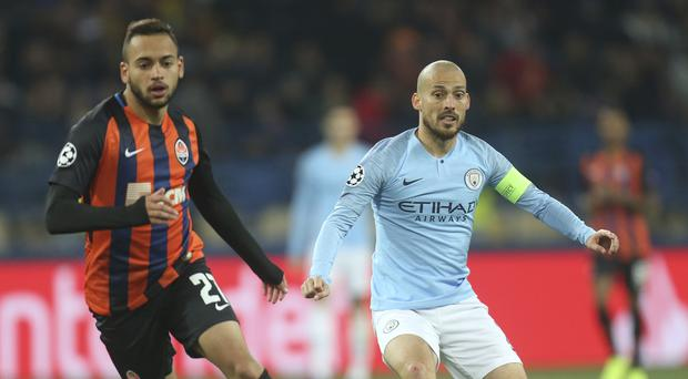 David Silva's struck in the first half to set Manchester City on the way to a convincing win in Ukraine (AP)
