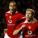Manchester United greats Rio Ferdinand, left, and Paul Scholes were dismayed by the current crop's performance against Juventus (Martin Rickett/PA)