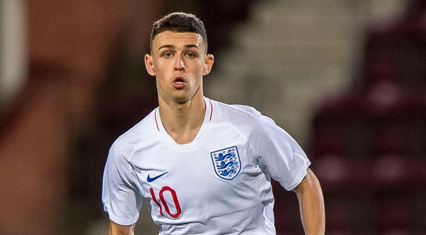 England U21's Phil Foden has attracted interest from Borussia Dortmund, reports say (PA)