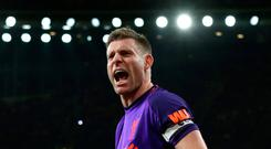 Point made: James Milner was frustrated to concede goal