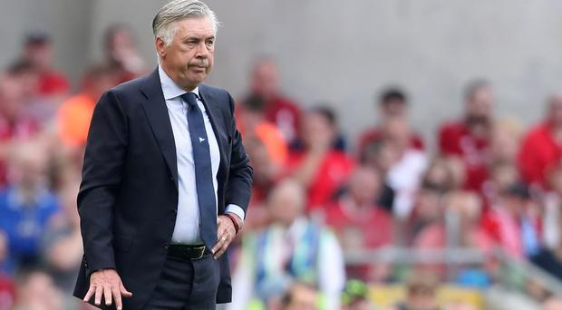 Carlo Ancelotti's Napoli will face his former club Paris St Germain on Tuesday (Niall Carson/PA)