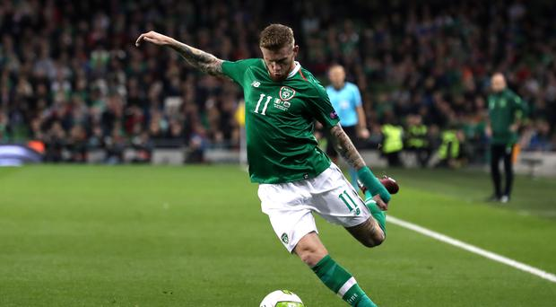 Republic of Ireland international James McClean received a warning from the Football Association (Liam McBurney/PA)