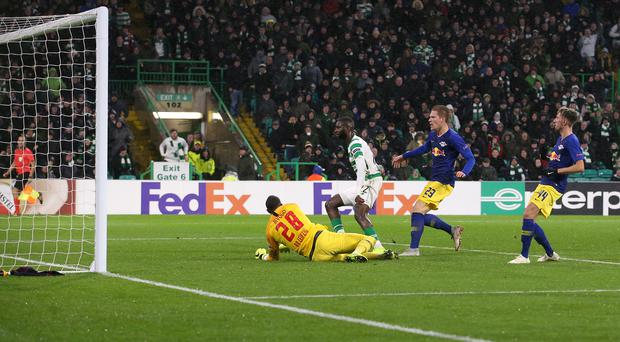 Odsonne Edouard nets the winner at Parkhead (Jane Barlow/PA)
