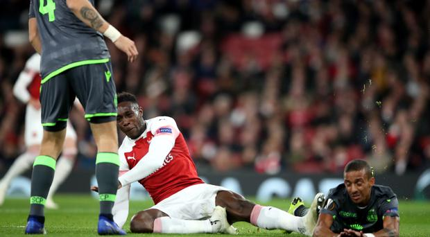 An injury to Danny Welbeck dominated Arsenal's goalless draw with Sporting Lisbon (Nick Potts/PA)