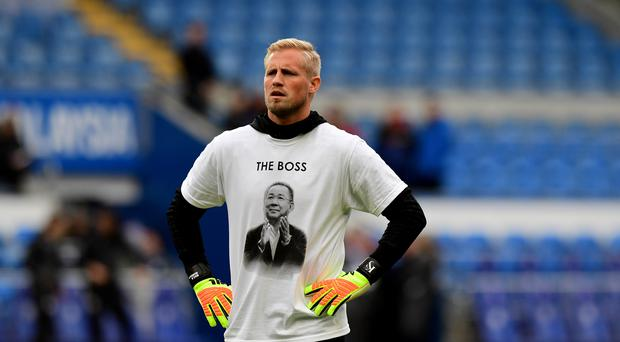 Wales manager Ryan Giggs hopes Kasper Schmeichel is able to focus on football after the Leicester helicopter tragedy (Simon Galloway/PA)