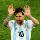 The international future of the absent Lionel Messi was debated prior to Argentina v Mexico (Owen Humphreys/PA Images)