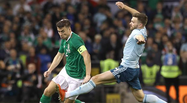 Republic of Ireland skipper Seamus Coleman (left) has demanded a response to a disappointing run of form in Denmark (Lorraine O'Sullivan/PA)