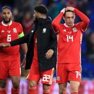 Captain Ashley Williams (left) says Wales will come back stronger for their Nations League defeat to Denmark (Mike Egerton/PA)