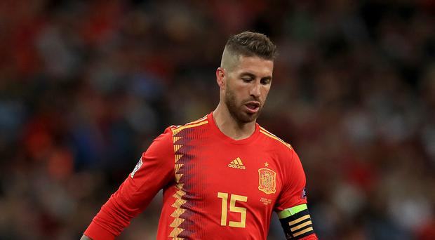 File photo dated 08-09-2018 of Spain's Sergio Ramos.