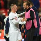 Harry Kane, right, is chasing Wayne Rooney's England goalscoring record (Mike Egerton/PA)