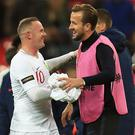 Wayne Rooney holds the goalscoring record that Harry Kane is targeting (Mike Egerton/PA)